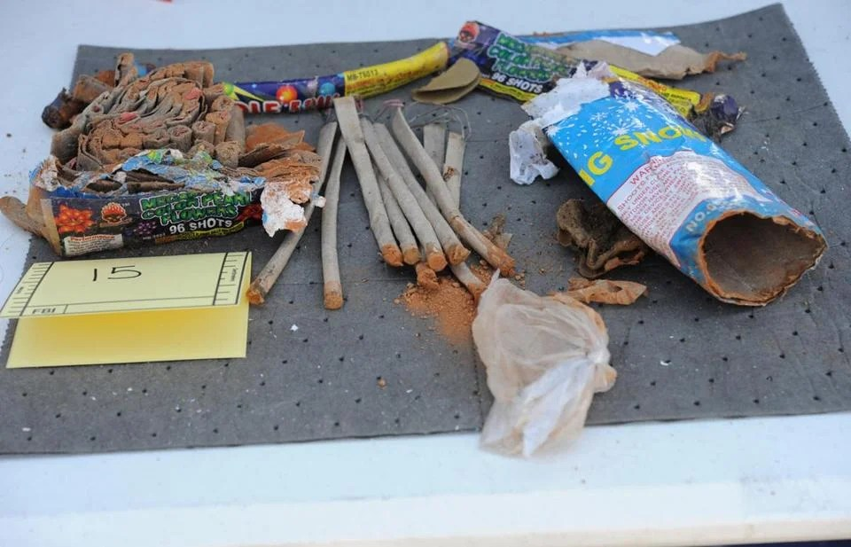 An FBI image shows fireworks tubes found in a backpack that was allegedly disposed of by friends of Dzhokhar Tsarnaev.   Dzhokhar Tsarnaev and his now-deceased brother used parts from Christmas lights and model cars to build the bombs that they allegedly detonated near the finish line of the Boston Marathon, federal prosecutors said in a court filing May 21.