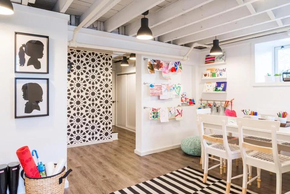 Melrose interior designer Justine Sterling's finished project room for her kids.