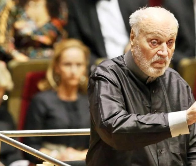Kurt Masur Conducting The Gewandhausorchester In Leipzig Eastern Germany In