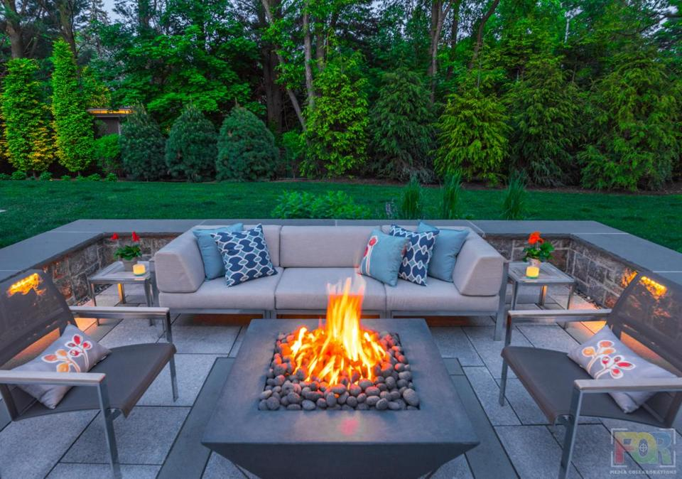 Why New Englanders are going wild for fire pits - The ... on Fireplace In Yard  id=42461