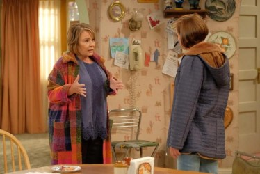"""On the """"Roseanne"""" revival, Roseanne Conner clashes with her liberal sister, Jackie, played by Laurie Metcalf."""