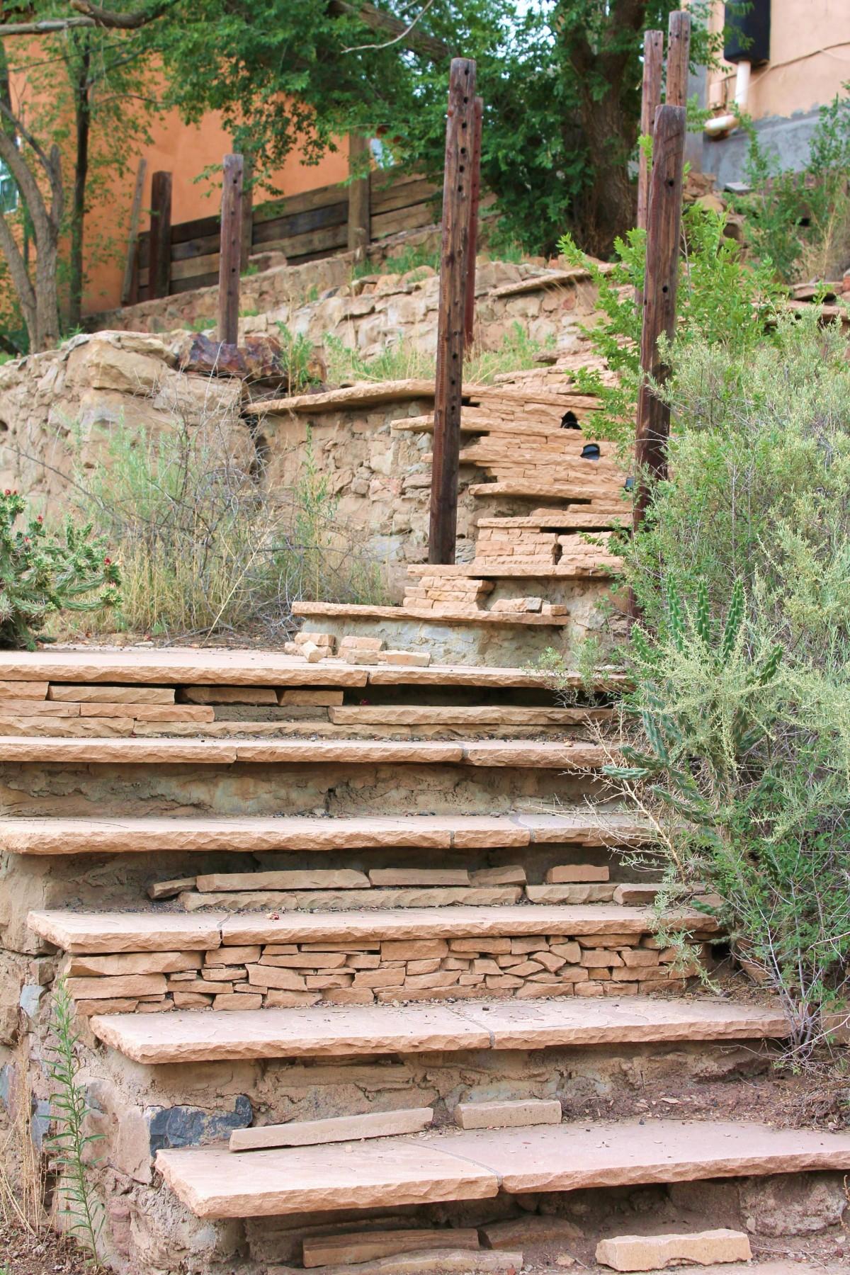 Free Images : wood, wall, walkway, backyard, garden, yard ... on Backyard Stairs Design id=83112