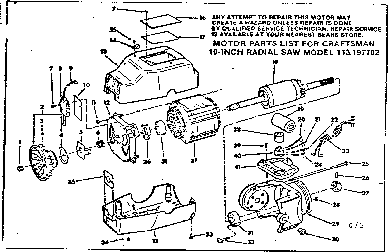 Radial Arm Saw Diagram