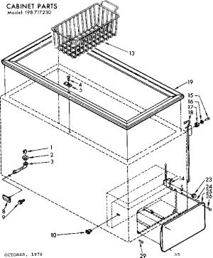KENMORE FREEZER Parts   Model 198717230   Sears PartsDirect
