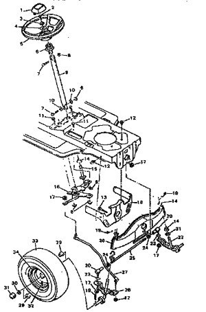 STEERING SYSTEM Diagram & Parts List for Model 502255751 CraftsmanParts RidingMowerTractor