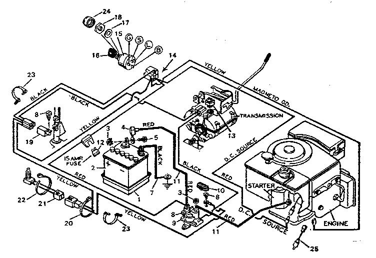 Craftsman Lawn Tractor Wiring Schematic