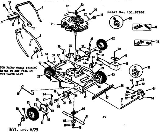craftsman lawn mower parts diagram  u2013 periodic  u0026 diagrams
