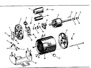CRAFTSMAN CRAFTSMAN 13 HP CAPACITOR START TYPE ELECTRIC MOTOR Parts | Model 11319600 | Sears