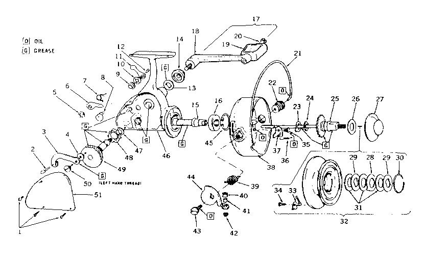 Daiwa Spinning Reel Parts Diagram