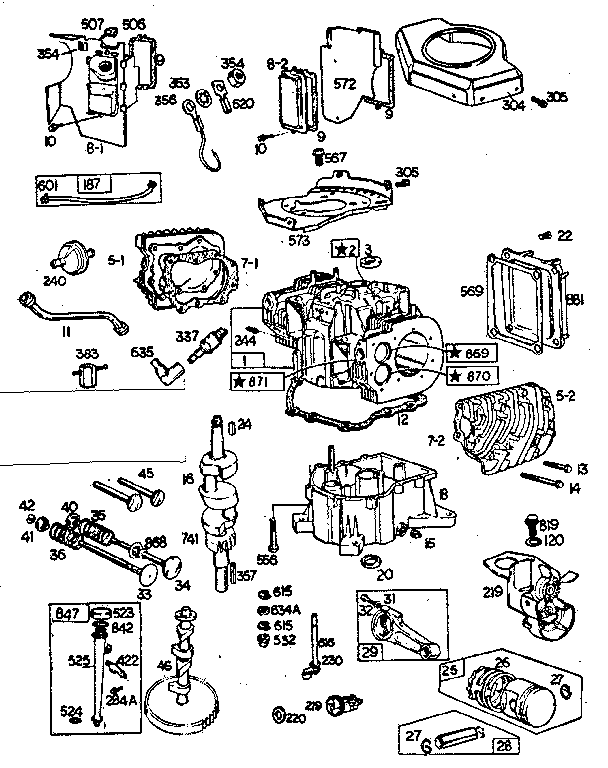 parts list for briggs and stratton engine