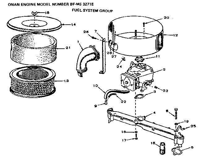 Onan P218g Parts Diagram
