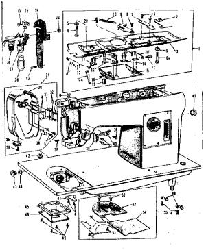 KENMORE KENMORE SEWING MACHINE HEAD Parts   Model 158152   Sears PartsDirect