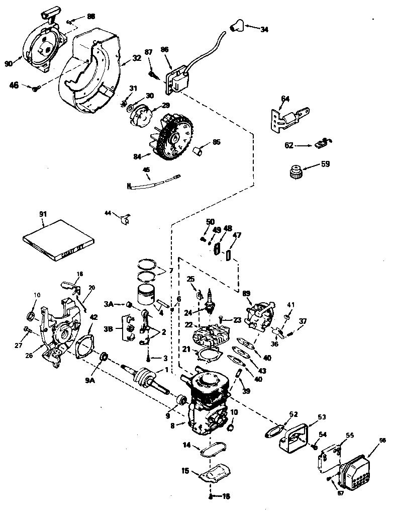 Tecumseh model ah600 1627n engine genuine parts rh searspartsdirect 10 hp tecumseh engine hm100 throttle