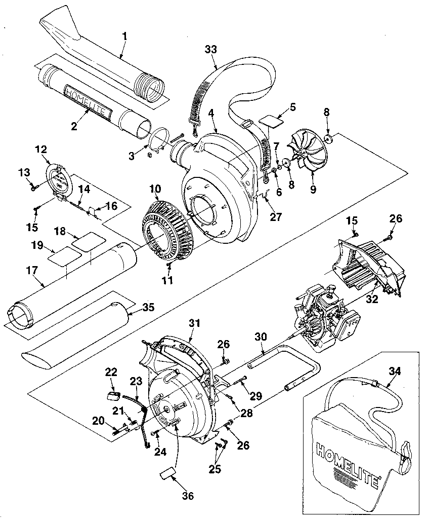 Homelite power blower parts model hb180 sears partsdirect leaf blower bag replacement leaf blower specs inside a leaf blower on gas leaf blowers diagram
