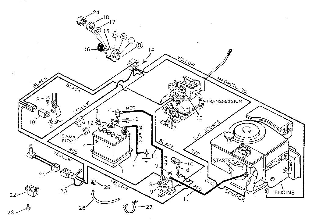 Diagram Sears Craftsman Lawn Mower Wiring Diagram Free Electrical