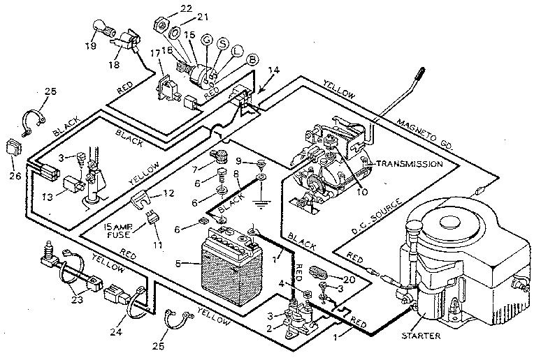 Lawn Tractor Wiring Schematic