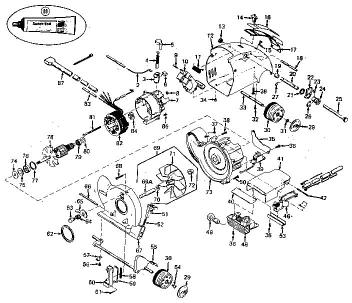 Kirby Model 1hd Vacuum Upright Genuine Parts G3 Diagram