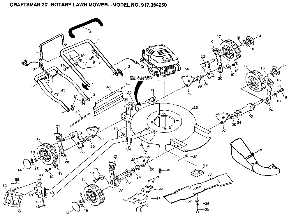 Sears Craftsman Riding Mower Parts List
