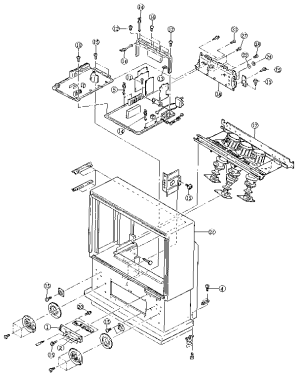 HITACHI Color Television Exploded view (23) Parts | Model