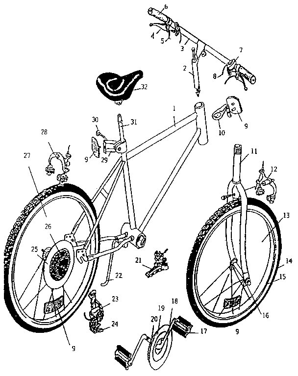 Schwinn Bike Parts Diagram