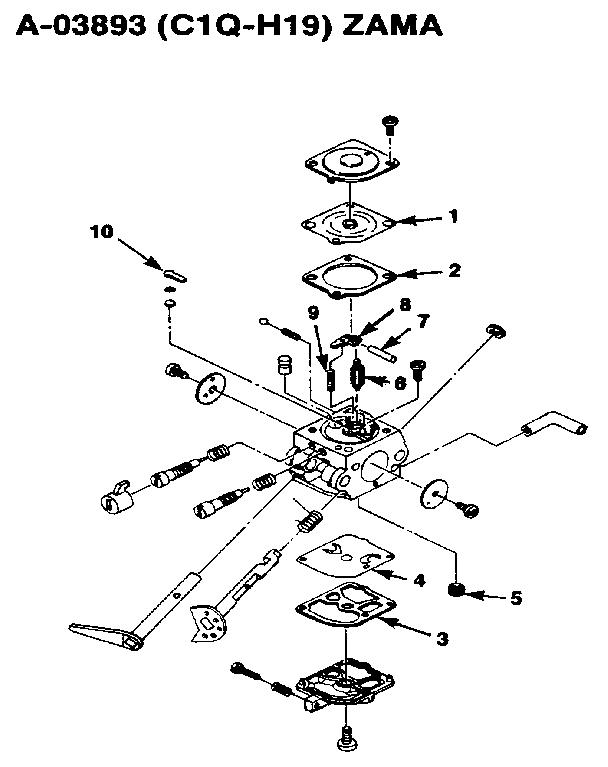 Homelite Hbc 38 Gas Line Trimmer Parts