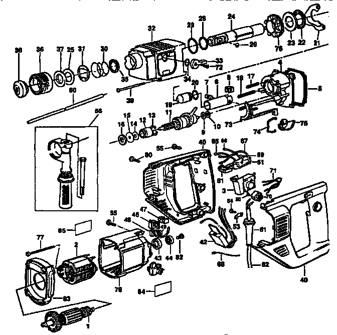 skil hammer drill parts diagram