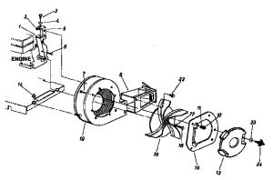 BLOWER HOUSING Diagram & Parts List for Model 247797900 CraftsmanParts LeafBlowerParts