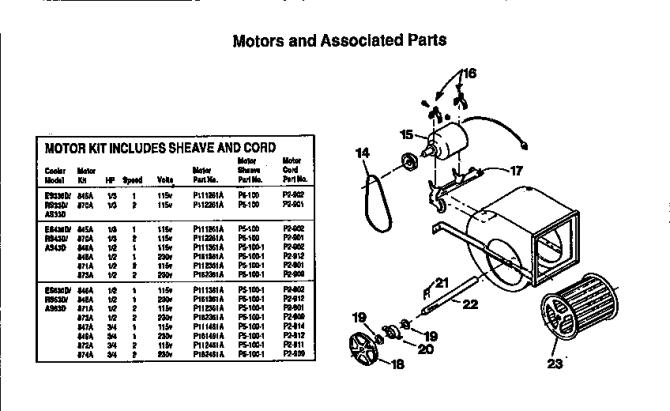 kenmore 62350 evaporative cooler parts  sears parts direct
