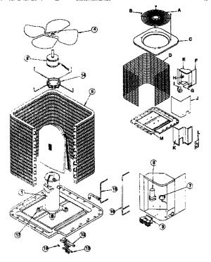 ICP AIR CONDITIONER CENTRAL Parts   Model ca5548vkc1