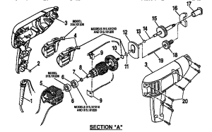 CRAFTSMAN 38 Inch Reversible Drill Wiring diagram Parts