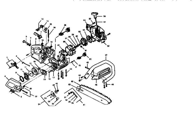 Craftsman Model 358352180 Chainsaw Gas Genuine Partschainsaw Engine Diagram 19
