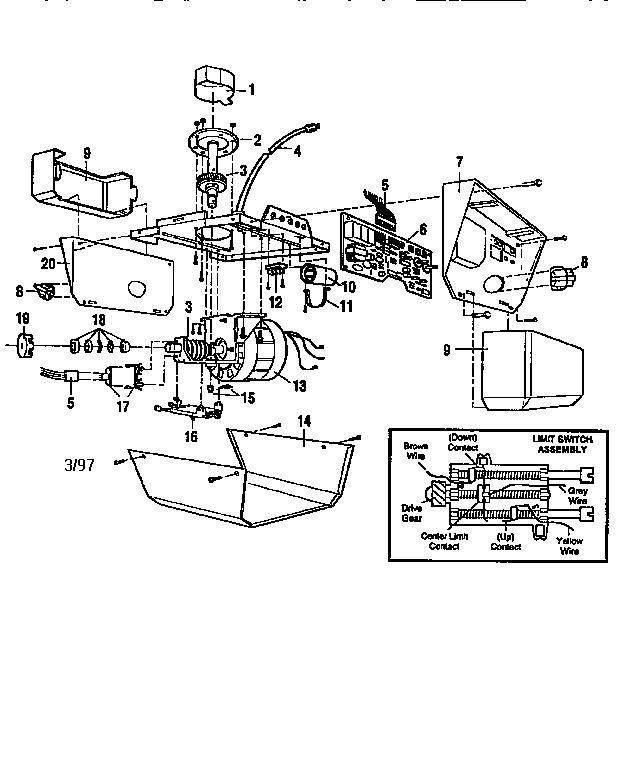 diagram circuit diagram for sears garage door opener full