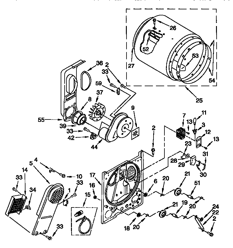 10057038 00003 kenmore 110 dryer parts diagram model 110 82822102