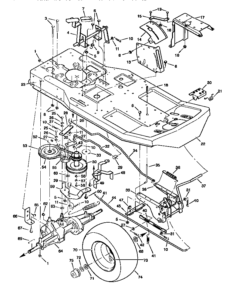 ford 6000 tractor parts diagram