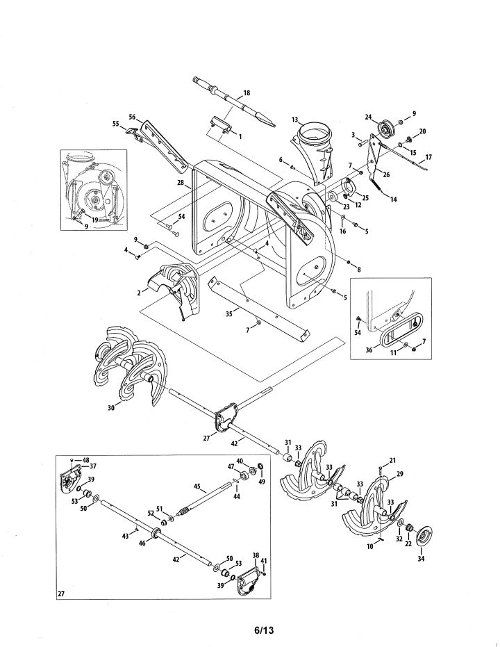 Craftsman Tractor Attachments Chart : Craftsman snowblower parts manual tractor