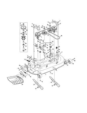 DECKSPINDLE Diagram & Parts List for Model 247204380