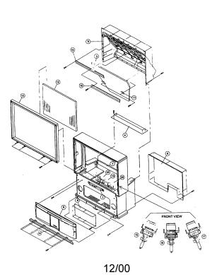 HITACHI PROJECTION COLOR TELEVISION Parts | Model 61SDX01B