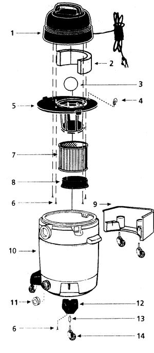 SHOP VAC SHOP VAC Parts | Model qps35 | Sears PartsDirect