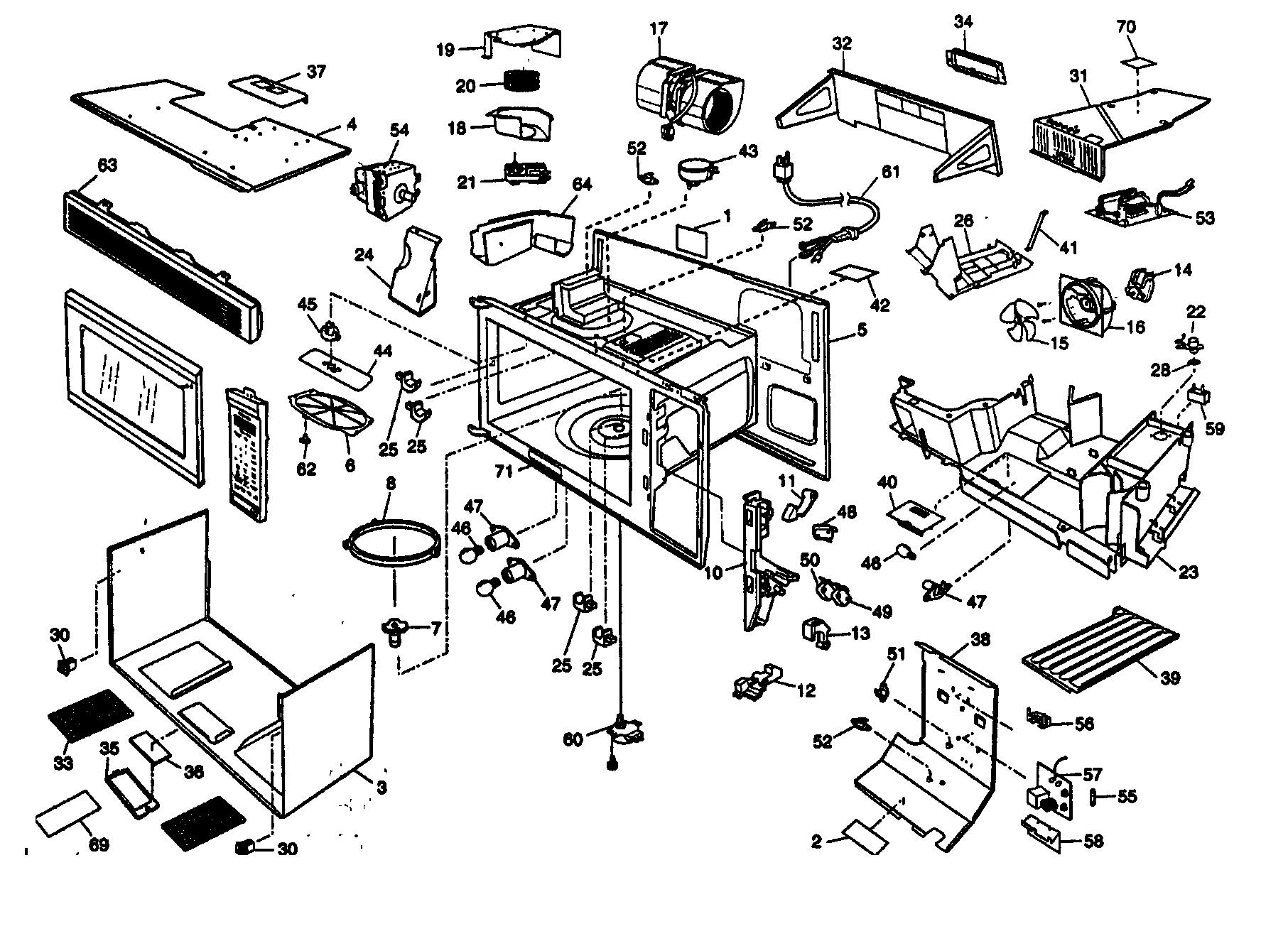 Panasonic Inverter Microwave Parts Diagram
