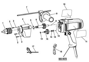 CRAFTSMAN HAMMER DRILL Parts | Model 315101360 | Sears