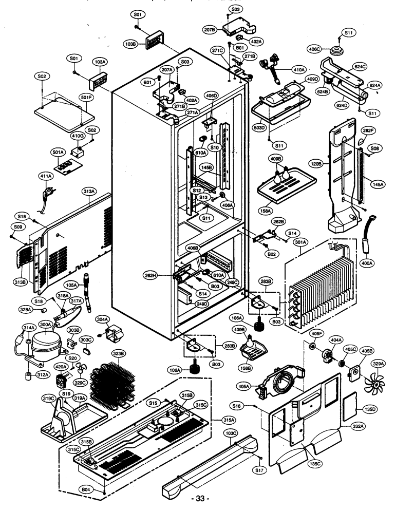 Kenmore Elite Refrigerator Parts Diagram