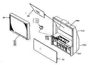 TOSHIBA COLOR TELEVISION Parts   Model 51H84   Sears PartsDirect