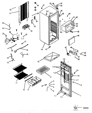 HAIER REFRIGERATOR Parts   Model HSE08WNAWW   Sears