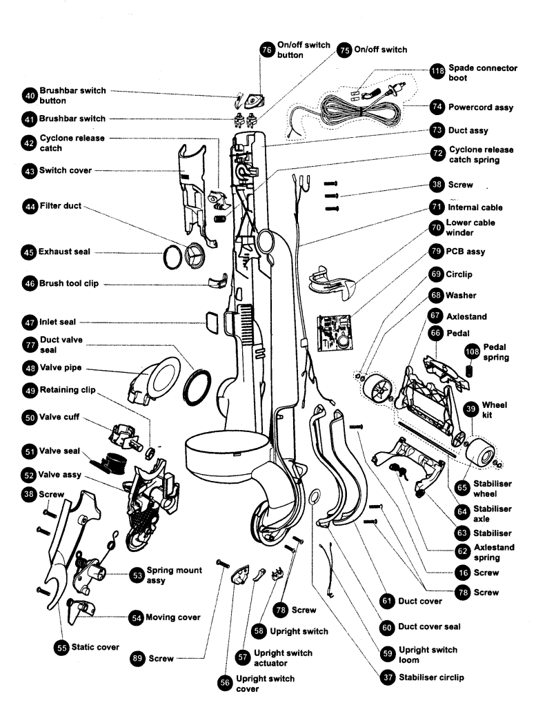 Dyson V6 Animal Parts List