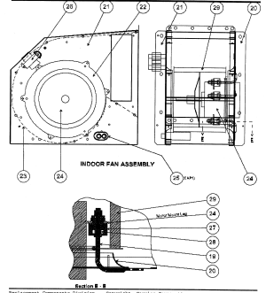INDOOR FAN ASSY Diagram & Parts List for Model 50ZP060300