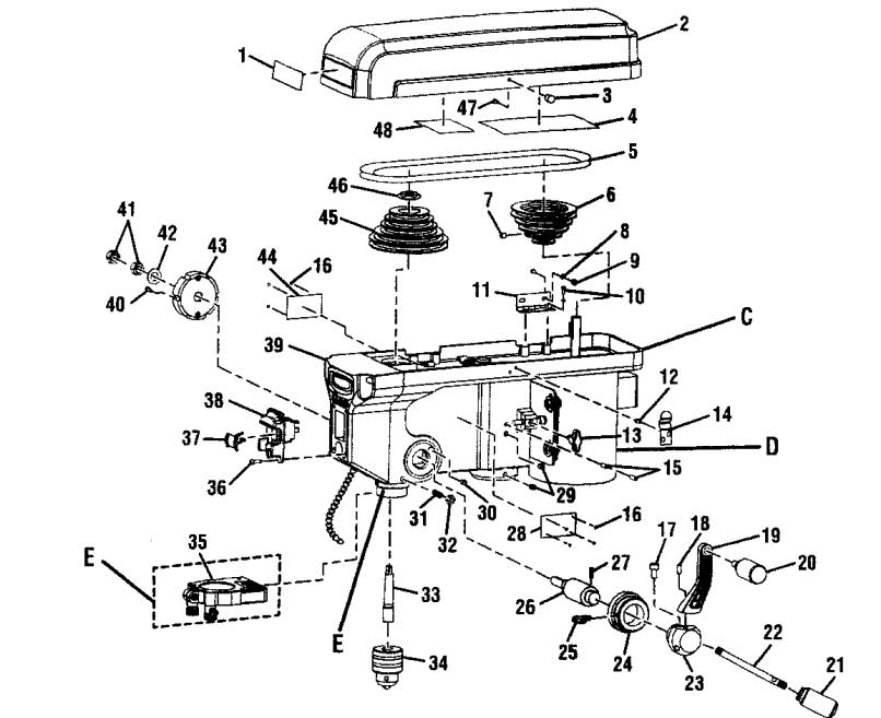 Craftsman 315219140 Drill Press Parts