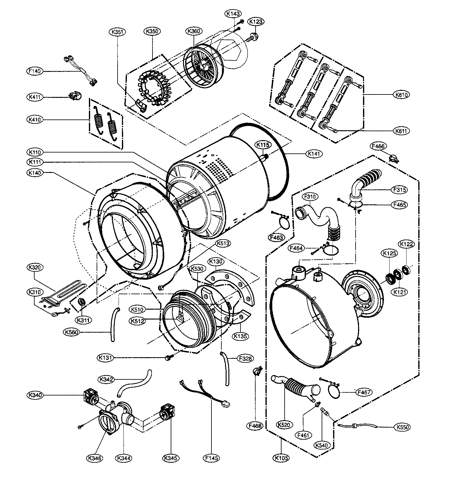 Lg Front Load Washer Parts Manual