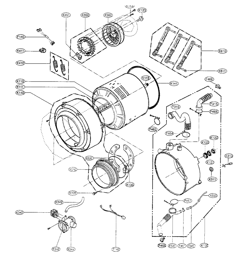 Lg Tromm Washer Parts Diagram