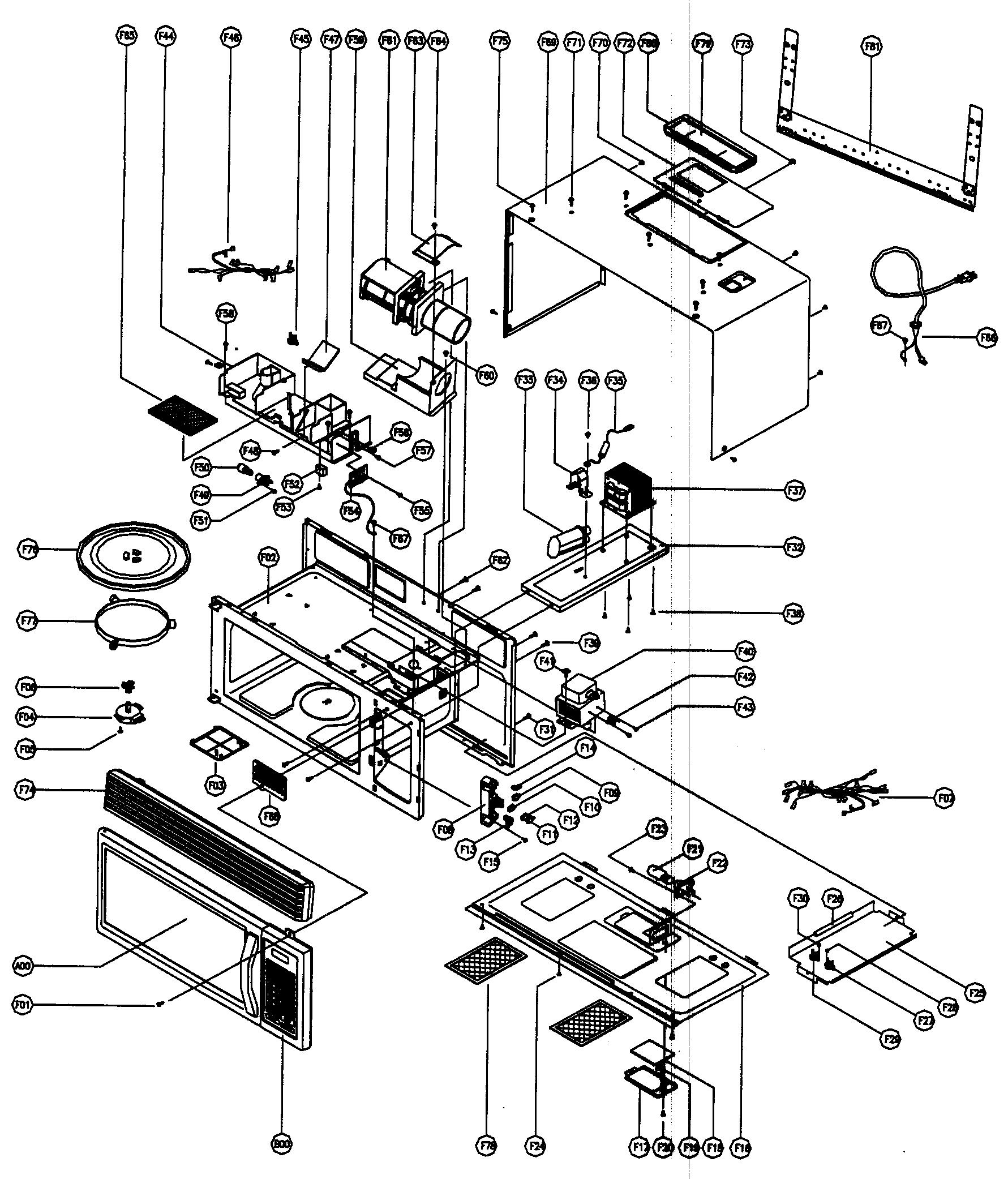 Magic chef model mco160ub microwave hood bo genuine parts