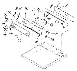 SPEED QUEEN Dryer Front panel Parts | Model SDG809WF | SearsPartsDirect